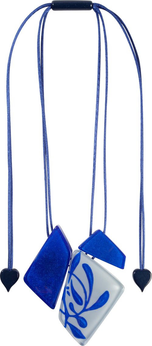 Zsiska SILHOUETTES: 1-bead short hook ear ring, Blue