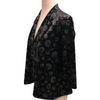 Andria Lieu Short Jacket Black Silver Circles