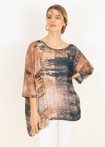 Capri Poncho Top in Earth Canvas CAPRI-223