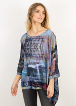Capri Poncho Top in Multi Canvas