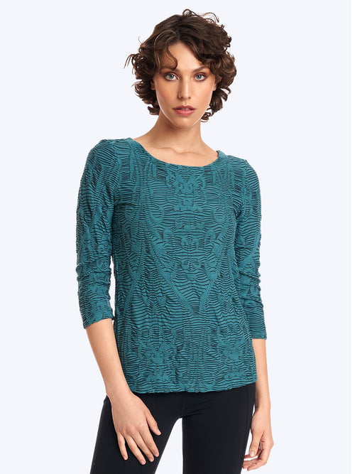 Tianello: Crawford Knit Jacquard Ballet Tee 10 reviews CJCF-664-WAS-XS