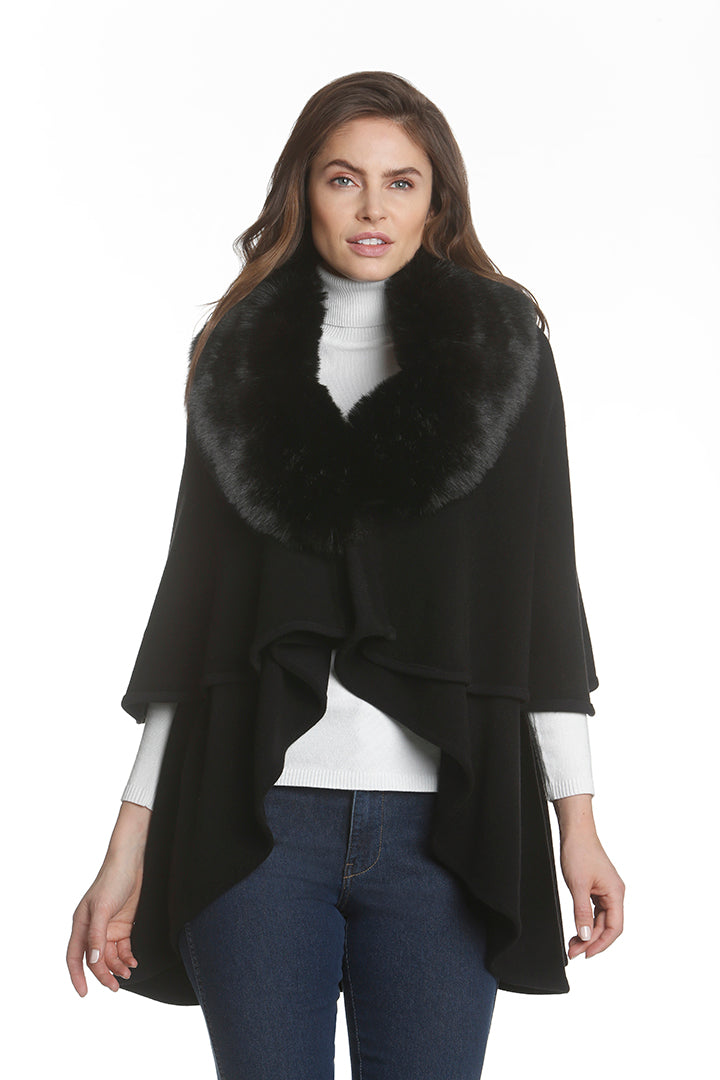 Metric Faux Fur cover Up