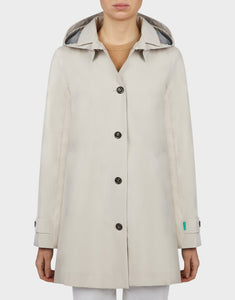 Save the Duck Womens Grin coat in Sand Beige