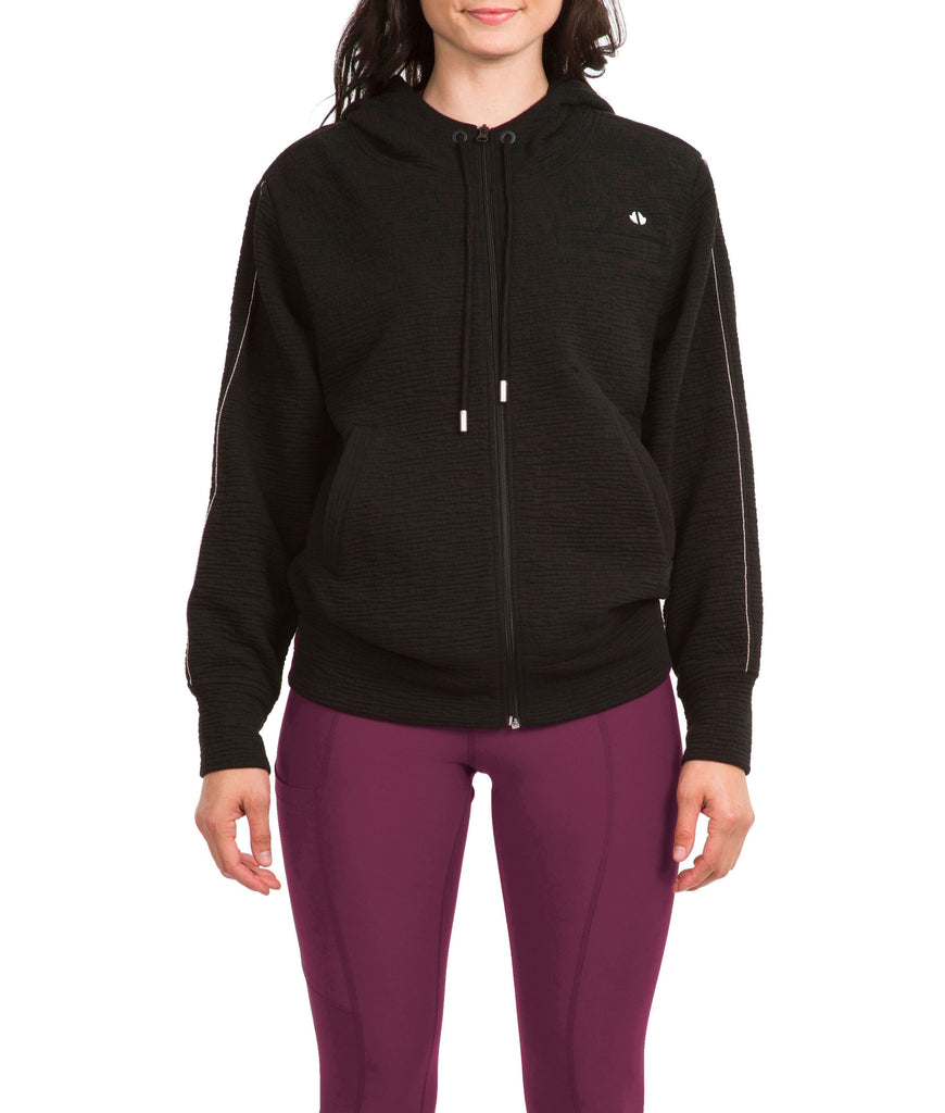 Thrive Societe Black Linked Hoodie