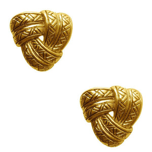 Karine Sultan Gold Plated Love Knot Stud Earring - E62100.30