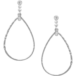 Karine Sultan Silver plated teardrop earring - E62215.11