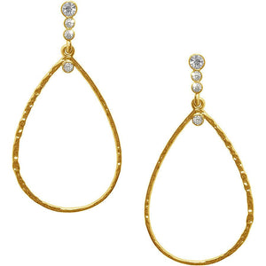 Karine Sultan Gold plated teardrop earring - E62215.11