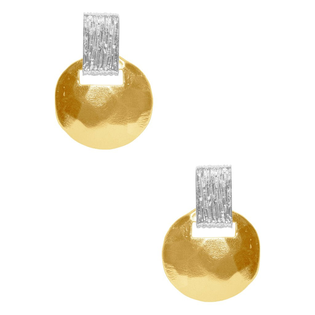 Karine Sultan two tone stud earring - E63079.01