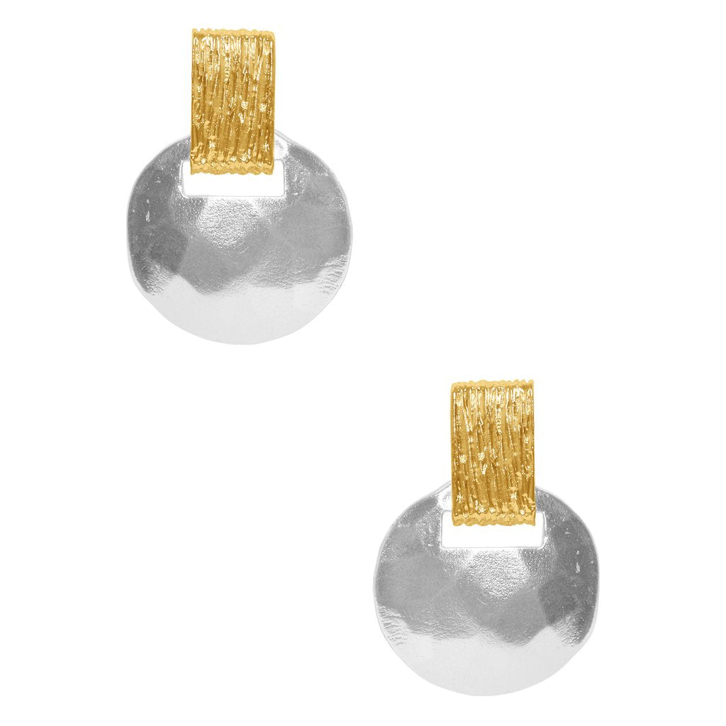 Karine Sultan two tone stud earring - E63079.02