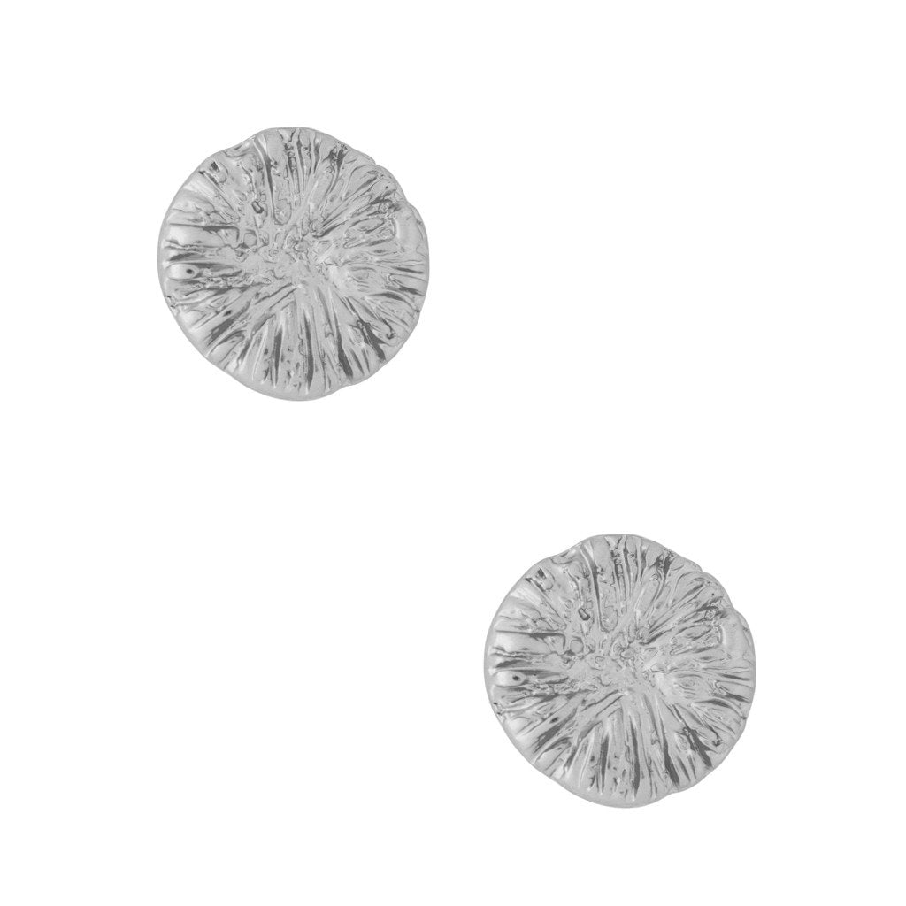 Karine Sultan  bark texture silver plated antique stud earring - E63232.4