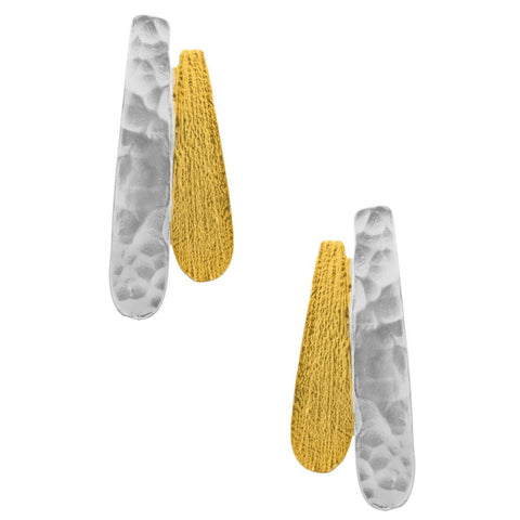 Karine Sultan Gold Silver Mix Earring - E64039.01
