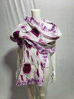Felted shawls: TD English Rose~Orchid S100-4