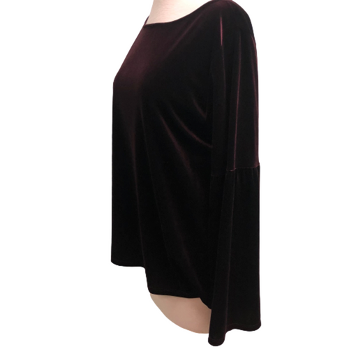 Elliott Lauren Long Sleeve Velvet Sweater