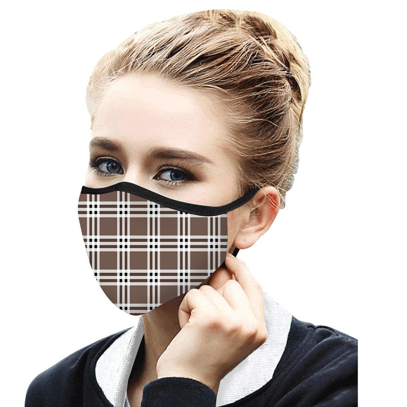 Art inspired masks: Coco Plaid