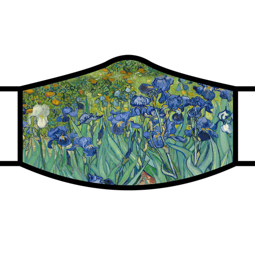 Art inspired masks: Van Gogh's Irises