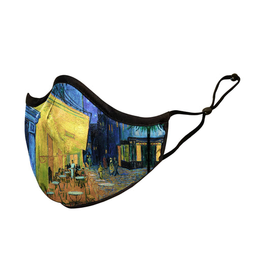 Art inspired masks: Van Gogh's Care Terrace at Night