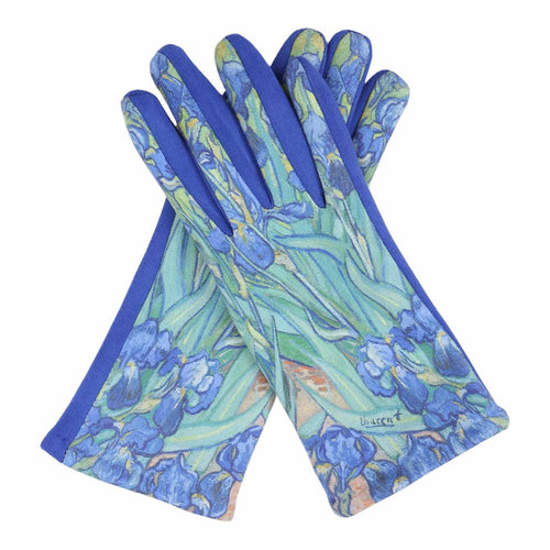Fine Art Van Gogh Irises Texting Gloves