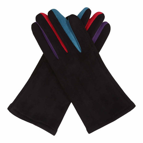 Black & Multicolor Texting Gloves