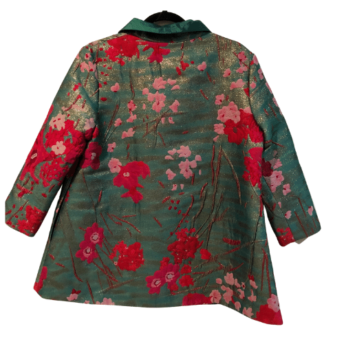 Grace Chuang Jacket Red and Pink Flowers
