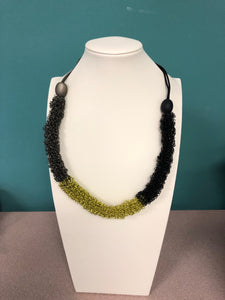 Sandrine Giraud Black Green Necklace