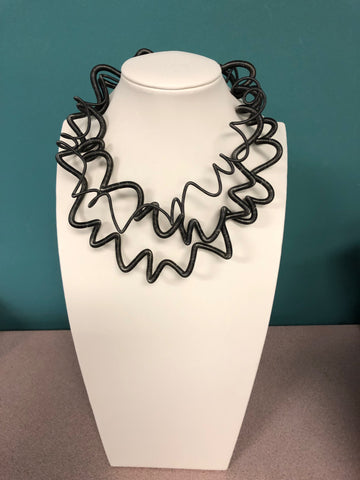 Sandrine Giraud Twirl Gray Necklace