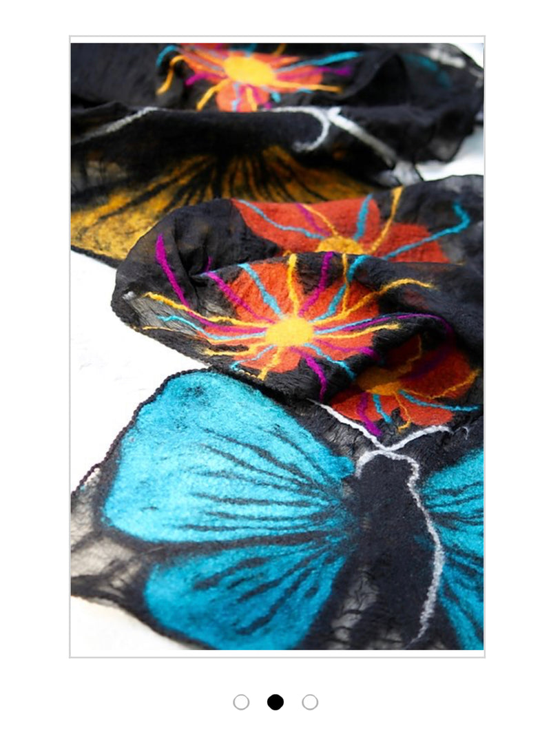 POMEGRANATE MOON Monarch Butterfly Scarf