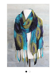 POMEGRANATE MOON COOL Feather Scarf