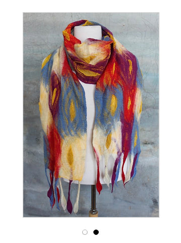 POMEGRANATE MOON WARM Feather Scarf