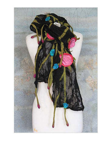 POMEGRANATE MOON Rose Vine SCARF