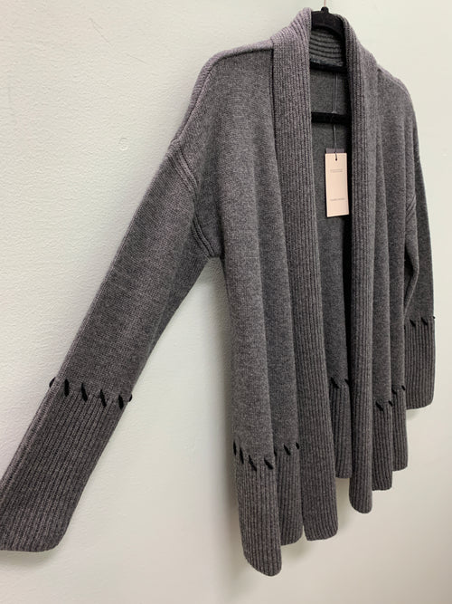 CLAUDIA NICOLE CASHMERE KNIT OPEN CARDIGAN LFM9164 256-237- FINAL SALE