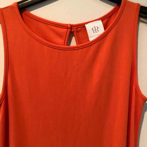Orange sleeveless dress by Papillon Blanc S