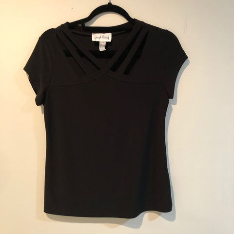 Joseph Ribkoff top with cap sleeve 6 & 8