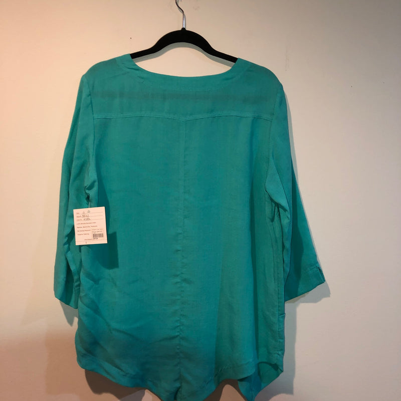 FRIDAZE Linen Blouse pale green M