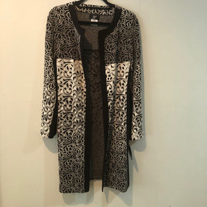 Libra long duster jacket Black/white M