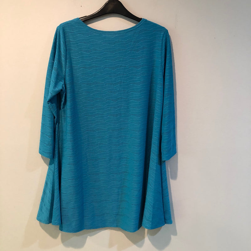 Tunic top by Lior, Turquoise, L