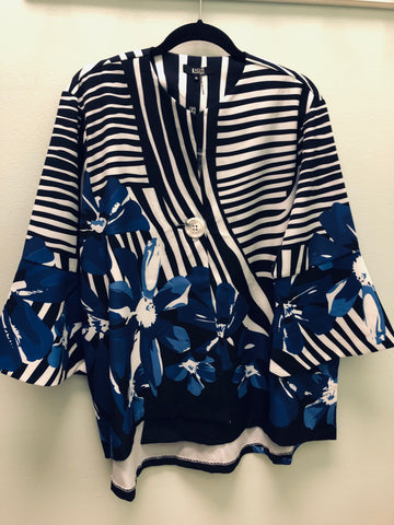 Lior floral/mixed stripe jacket XL