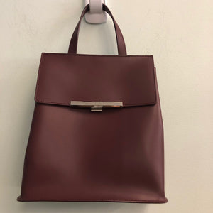 LANCASTER handle bag with crossbody strap (burgundy)