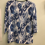 Whimsey Rose top Blues/white