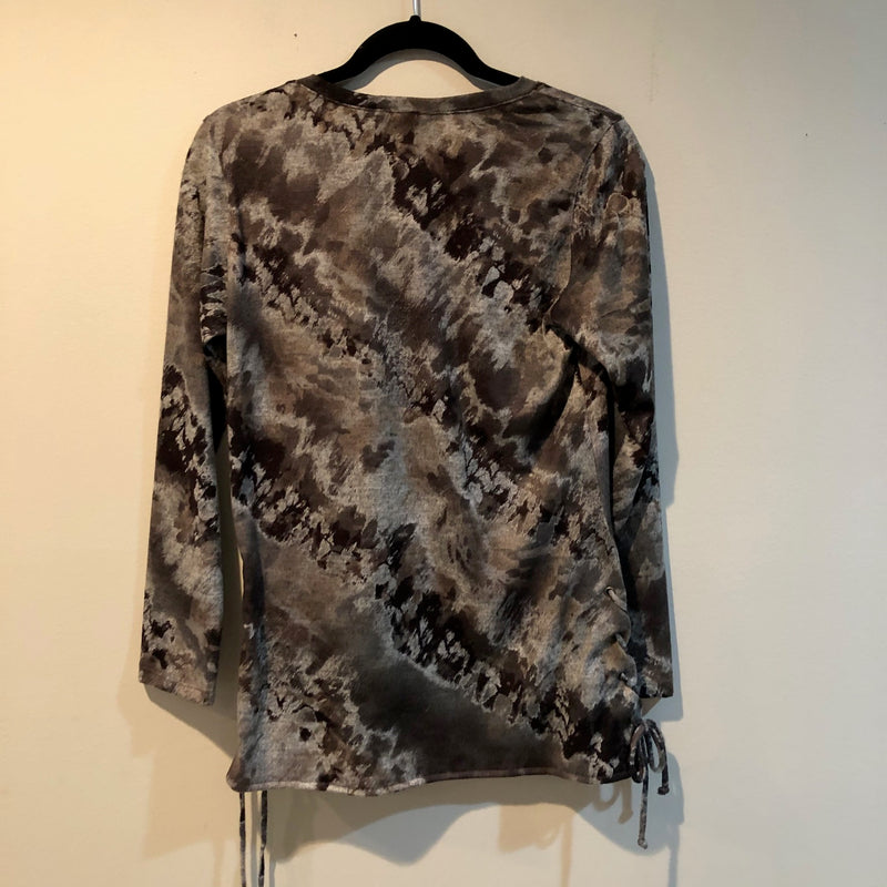 David Cline round neck top with matching scarf 4918 M