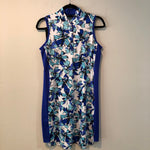 Sleeveless dress, Novelty neck, snaps, Style GF-1653-E186