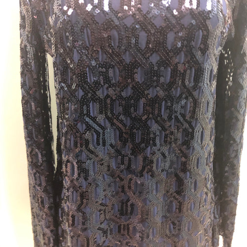 Lynne Ritchei sequin top black
