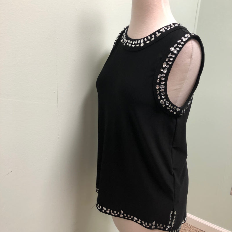 Joseph Ribkoff sleeveless top with diamonte details 4, 8