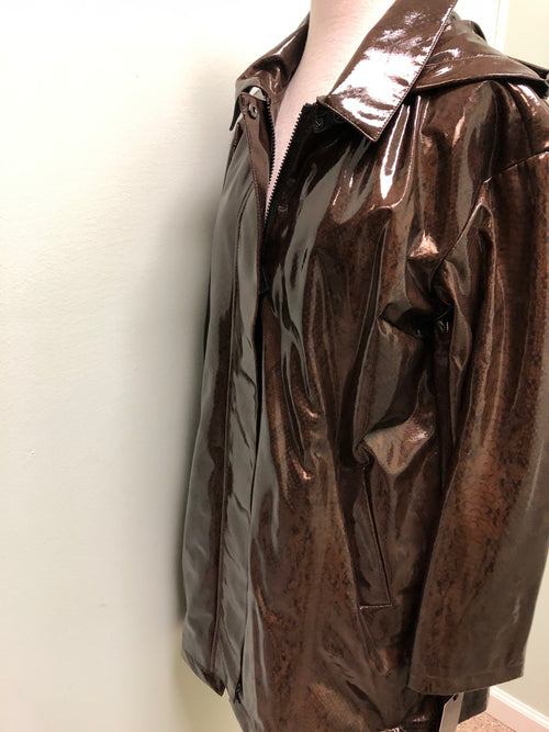 Nikki Jones raincoat Brown animal