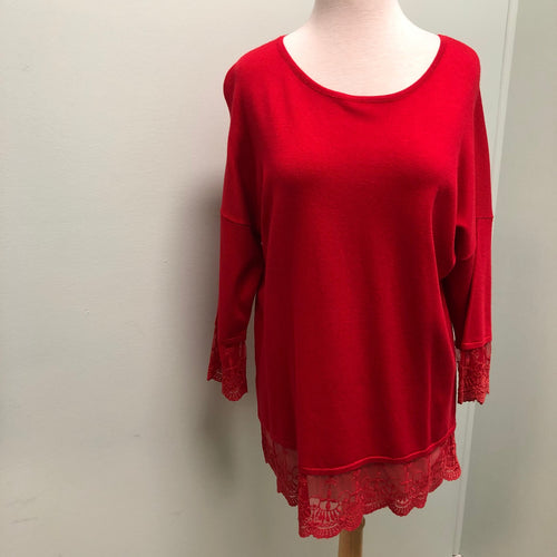 Marble Sweater Red L