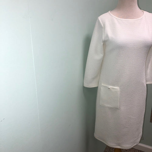 Papillon Blanc 3/4 sleeve dress, white S, M, L