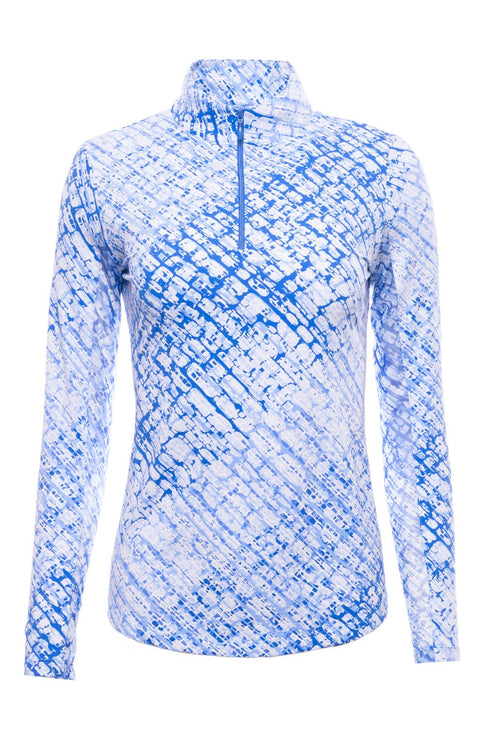IBKUL Long sleeve Polo Sharon print