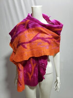 Felted shawls: TD Into the Woods Sunset S100-6