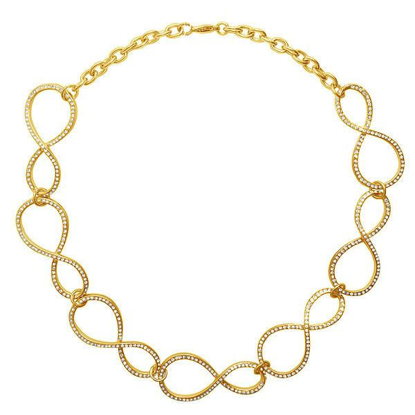 Karine Sultan Elodie Infitiny pave collar necklace in gold - N62046.11