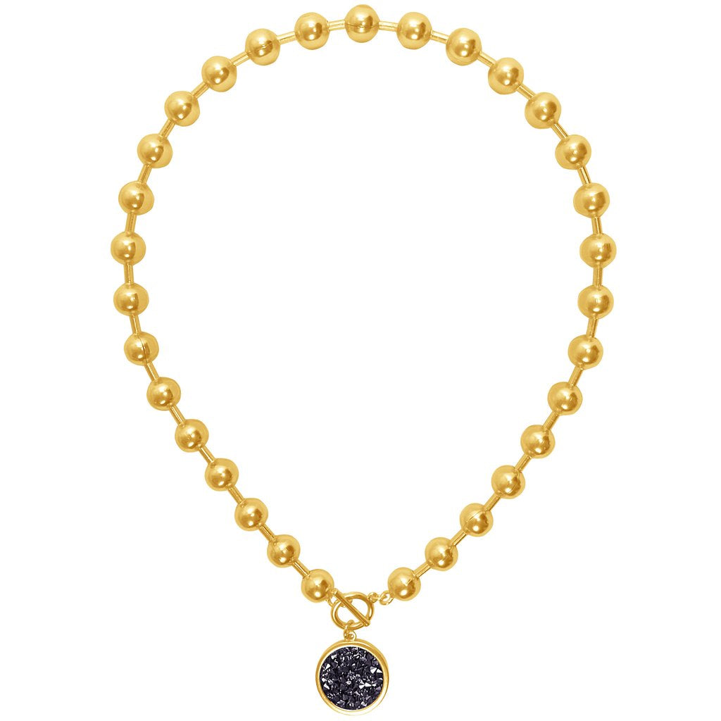 Karine Sultan louna collar charm necklace in gold - N63000.13