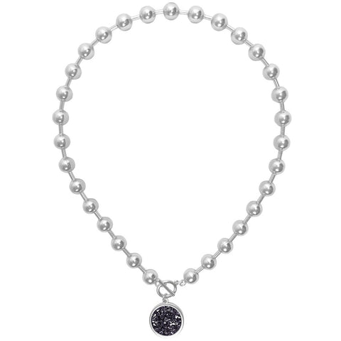 Karine Sultan louna collar charm necklace in silver - N63000.23